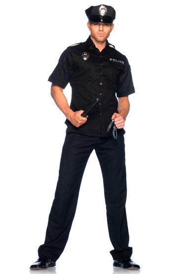 Leg Avenue Полицейский C фуражкой, дубинкой и наручниками