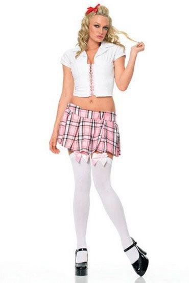 Leg Avenue Школьница С эротичной розовой шнуровкой