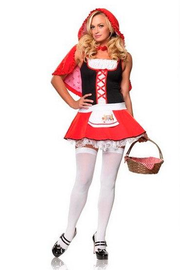 Leg Avenue Красная Шапочка Мини-платье и накидка с капюшоном