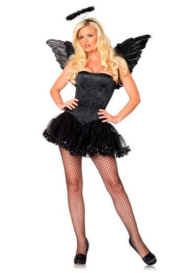 Leg Avenue набор Черный ангел Потрясающий комплект аксессуаров