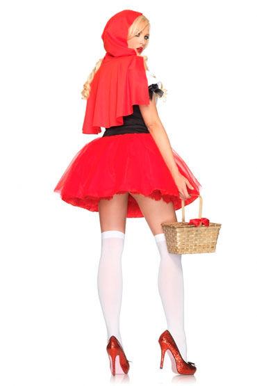 Leg Avenue Красная Шапочка С корсетом на шнуровке и пышной пачкой