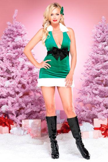 Leg Avenue Новогоднее платье С большим черным бантом