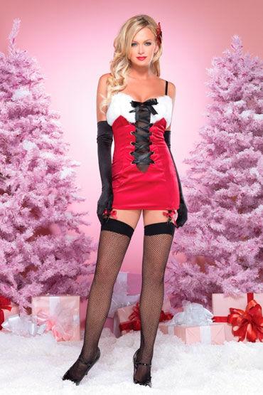 Leg Avenue Новогоднее платье С подвязками и шнуровкой