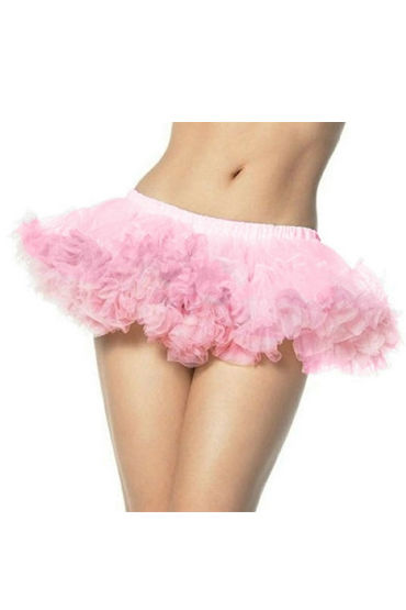 Leg Avenue мини-юбка, розовая Кружевная, на  резинке