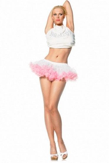 Leg Avenue мини-юбка, красная Кружевная, на  резинке