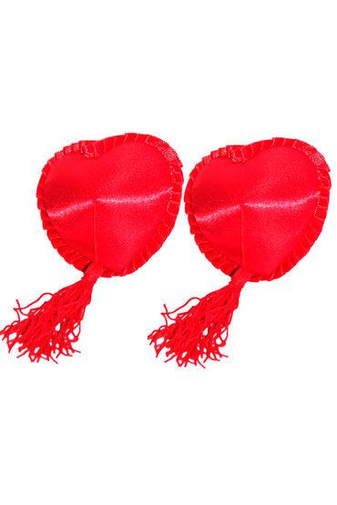 Leg Avenue украшение на соски, красное Многоразовые, в форме сердечек