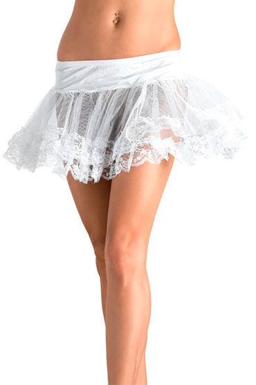 Leg Avenue подъюбник, белый, Кружевной, прозрачный - Размер Универсальный (XS-L) от condom-shop.ru