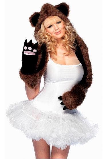 Leg Avenue шарф-капюшон Медвежонок Лапки и ушки