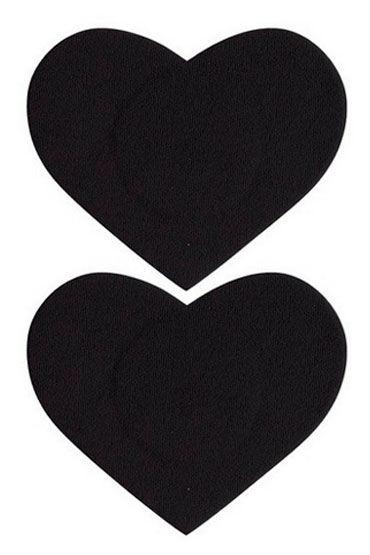 Leg Avenue украшение на соски, черное Наклейки в форме сердечек