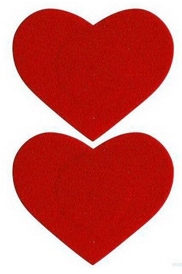 Leg Avenue пэстисы, красные В форме сердечек