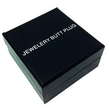Butt Plug Silver Small, голубой Малая анальная пробка, украшена кристаллом
