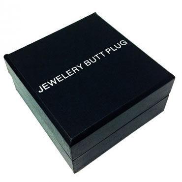 Butt Plug Silver Large, синий Большая анальная пробка, украшена кристаллом