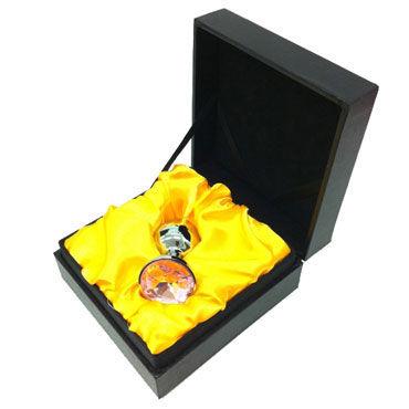 Butt Plug Silver Large, оранжевый Большая анальная пробка, украшена кристаллом
