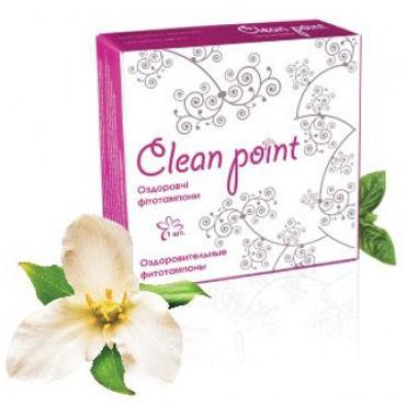 Clean Point, 1 шт Лечебные фитотампоны