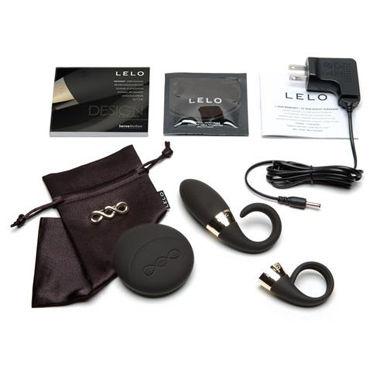 Lelo Oden 2 Design, черный Мощное виброкольцо на пенис с дистанционным управлением