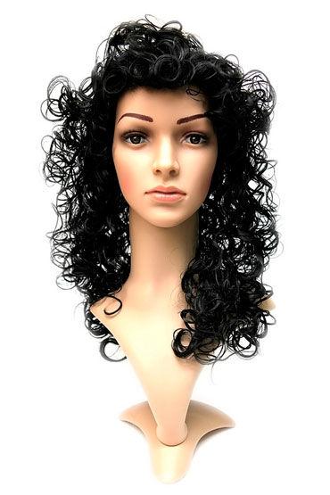 Daniella Wig, натуральный брюнет Длинные кучерявые волосы