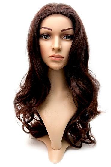 Violette Wig, каштан Длинные волосы без челки