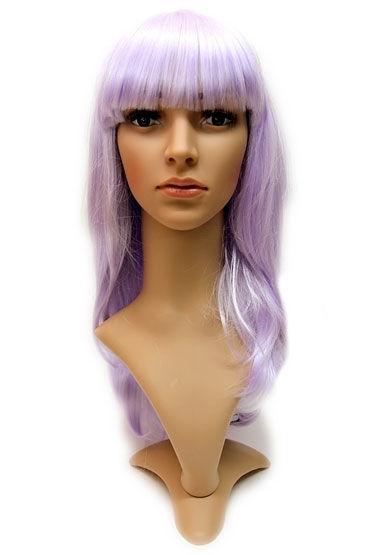 Courtney Wig, фиолетовый Прямые длинные волосы с челкой