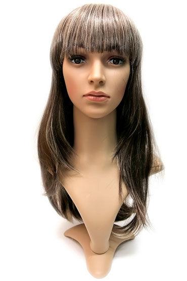 Courtney Wig, светло-русый с мелированием Прямые длинные волосы с челкой