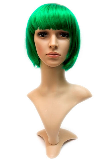 Gaga, зеленый Стрижка каре с челкой