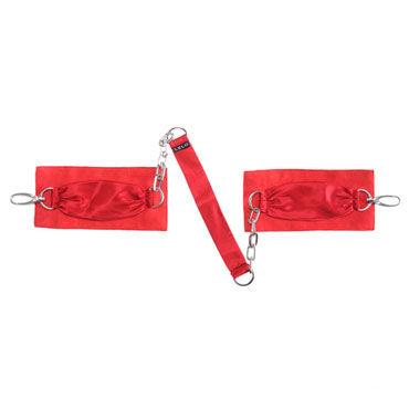 Lelo Sutra, красный Шелковые наручники с цепочкой