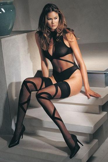 Leg Avenue боди и чулки Черного цвета, с интересным дизайном