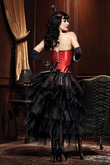 Leg Avenue Бэтти Сексуальный корсет красно-черного цвета