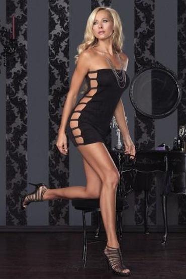 Leg Avenue платье, черное С боковыми вырезами