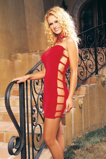 Leg Avenue платье, красное С боковыми вырезами