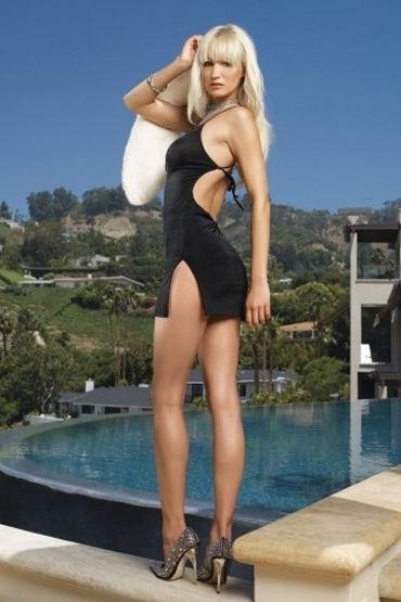 Leg Avenue мини-платье, черное C открытой спиной