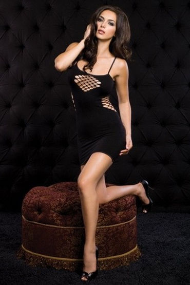 Leg Avenue платье, Эротичное, с сеточкой - Размер Универсальный (XS-L) от condom-shop.ru