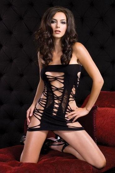 Leg Avenue платье, черное Очень откровенный наряд