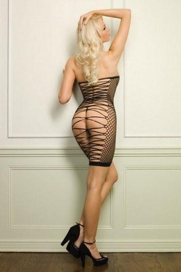 Leg Avenue мини-платье В крупную сетку