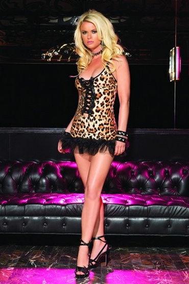 Leg Avenue мини-платье Эротичное, хищной расцветки