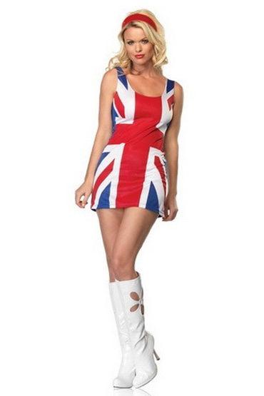 Leg Avenue Британский флаг Оригинальное клубное платье