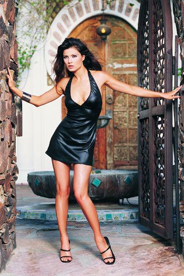Leg Avenue мини-платье, черное С глубоким вырезом