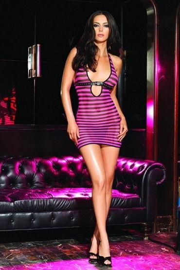 Leg Avenue мини-платье Украшено тоненьким пояском
