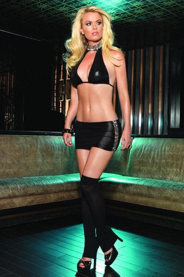 Leg Avenue бюст и мини-юбка С блестящими украшениями