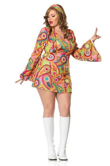 Leg Avenue Хиппи Платье с лентой на голову