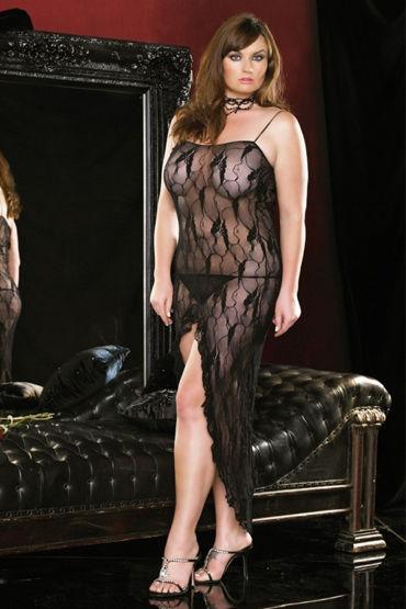 Leg Avenue платье и стринги Длинное, с открытой спиной
