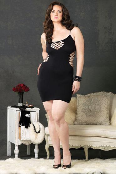 Leg Avenue мини-платье Бесшовное, с глубоким вырезом сзади