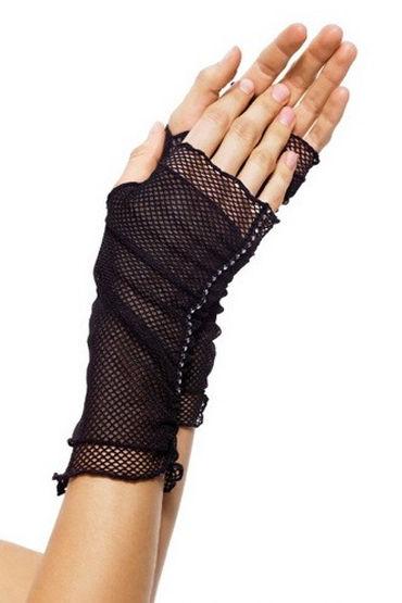 Leg Avenue перчатки С открытыми пальчиками и стразами