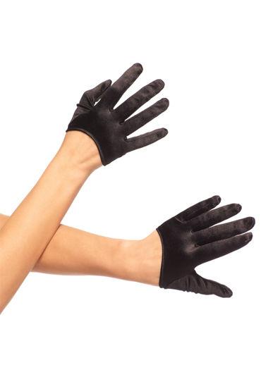 Leg Avenue перчатки, черные Атласные, оригинального дизайна