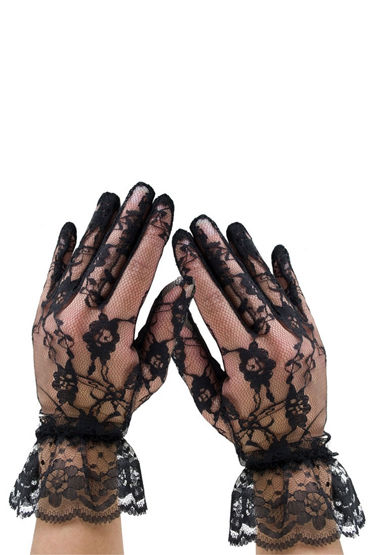 Leg Avenue перчатки Гипюровые, с кружевом