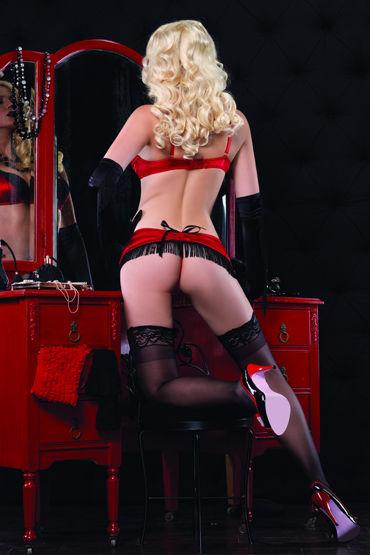 Leg Avenue комплект Красно-черный, с бахромой