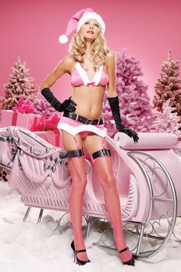 Leg Avenue комплект, розовый Яркое и красивое новогоднее белье
