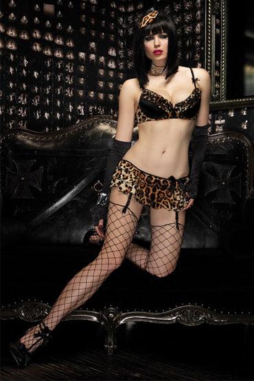 Leg Avenue комплект С леопардовым принтом