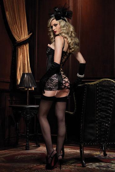 Leg Avenue комбинация С эротичной шнуровкой во всю спину