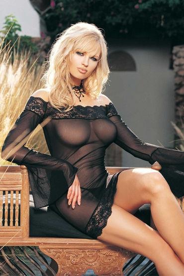 Leg Avenue мини-платье и стринги С длинными расклешенными рукавами