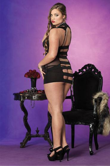 Leg Avenue мини-платье и стринги С поперечными разрезами сзади